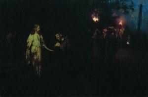 """Jesus Christ in the Garden of Gethsemane"" by Ilya Repin"